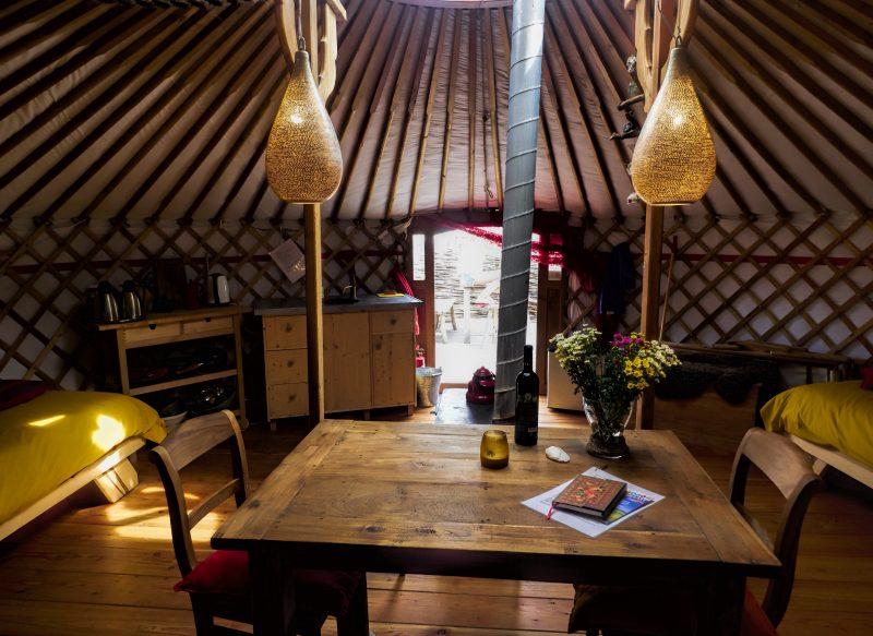 Slapen in een Yurt op Texel